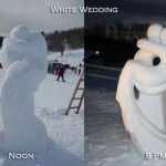 Snow wedding sculpture