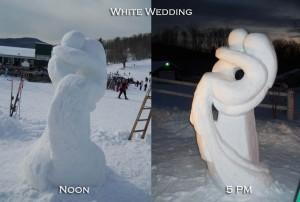 Snow wedding sculpture